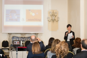 Beatrice Lomaglio, responsabile marketing Broking & Consulting, presenta la ricerca La sanità protagonista