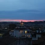 Una splendida vista su Roma dalla terrazza dell'Hotel Barberini che ha ospitato l'evento sulla comunicazione in sanità