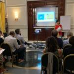 Beatrice Lomaglio, responsabile comunicazione e formazione di Broking & Consulting, conduce l'evento dedicato alla medicina narrativa